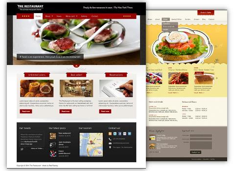 Tema grafico sito per ristorante